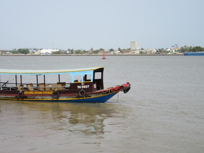 メコン川で乗った遊覧船