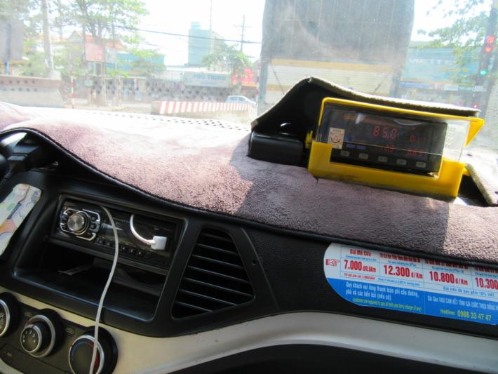 ブンソアイ公園から乗ったタクシー