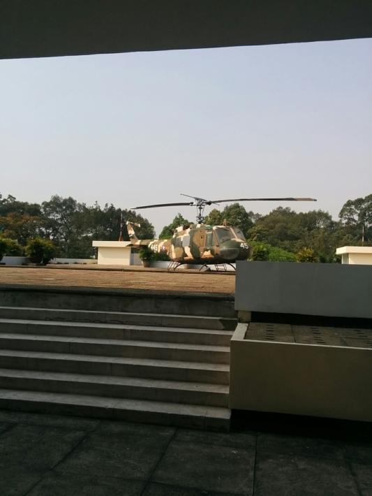 統一会堂 屋上のヘリポート