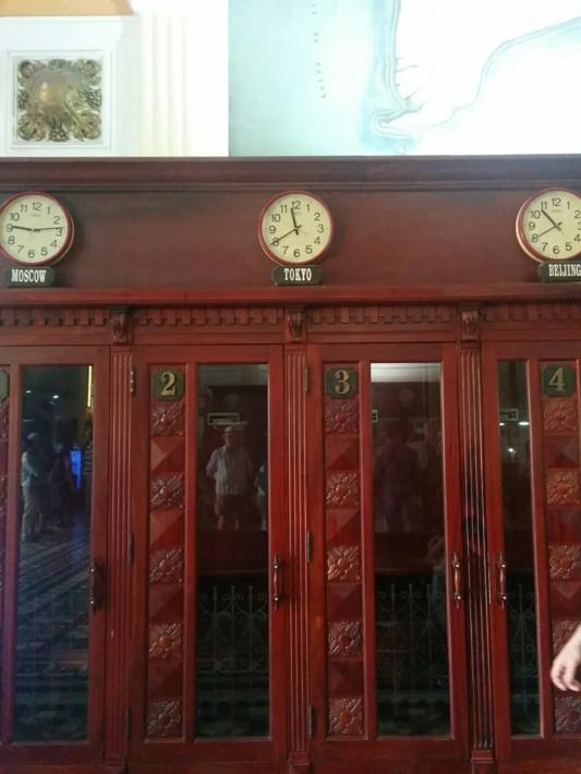 サイゴン中央郵便局・電話ボックス