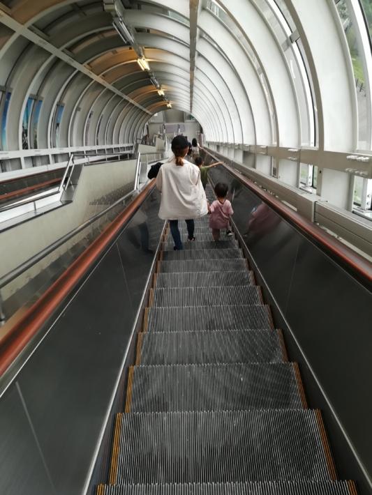 大倉山エスカレター
