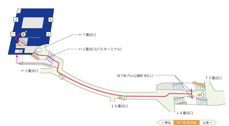 円山公園駅案内図