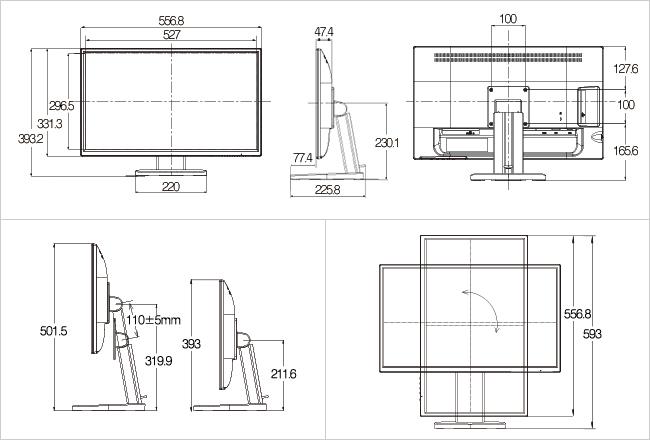 EX-LD2383DBS 外形寸法図